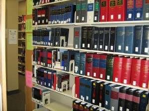 Main Collection of the Nunavut Court of Justice Library.Photo J. Thornhill